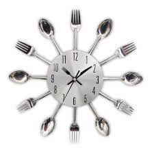 modern kitchen cutlery wall clock by the four spades the four modern kitchen cutlery wall clock by the four spades