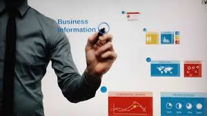 prezi template blue business information youtube