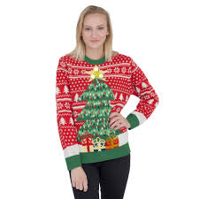 christmas tree sweater with lights women s fidget spinner star christmas tree ugly sweater