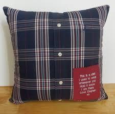 memory pillow keepsake pillow made with your shirt or
