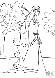 wood elf coloring page free printable coloring pages