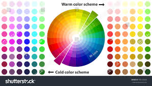 Warm Colors Palette by Color Palette Color Schemes Warm Colors Stock Vector 595148369
