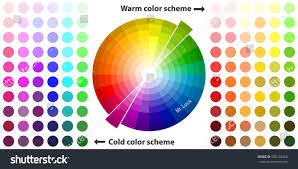 Warm Color Palette Color Schemes Warm Colors Stock Vector 595148369
