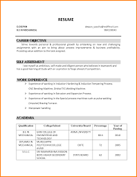 Career Objective For Resume For Fresher Career Objective For Resume For Fresher Free Resume Example And
