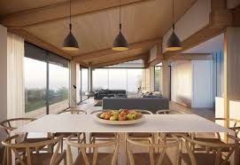 dining table pendant lighting open plan living home on the