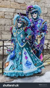 venetian jester costume annecy feb 23unidentified disguised stock photo