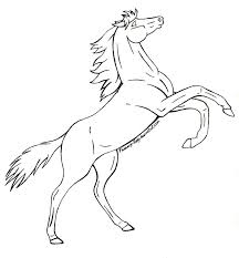 rearing horse drawing coloring pages jpg 859 929 one day