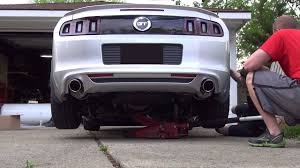 axle back exhaust mustang v6 2013 ford mustang roush performance axle back exhaust driveway
