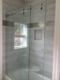 Frameless Slider Shower Doors Frameless Sliding Shower Enclosures Modern Bathroom Raleigh Modern
