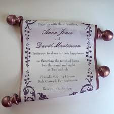 Scroll Invitation Scroll Invitations U2013 Artful Beginnings
