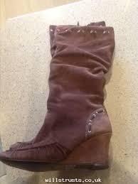 womens walking boots ebay uk size 8 brown wedge heel boots ebay