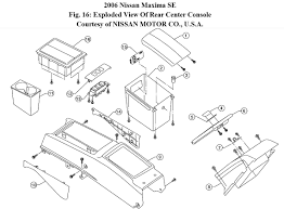 nissan maxima mirror replacement how do you remove the lid on the center arm rest console the