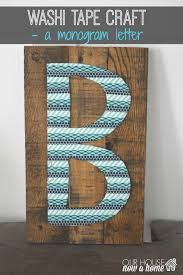 washi tape letter art u2022 our house now a home