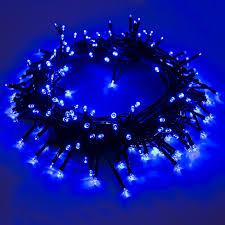 blue led christmas string lights aleko 35 5 foot solar blue 105 led christmas string lights lot of 4