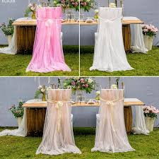 chair covers for baby shower 2pcs set soft tulle chair cover for wedding birthday party baby