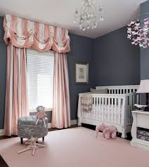 Baby Curtains For Nursery by Baby Nursery With Black Wall Colors And Stripes Curtains Cute