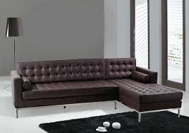 Small Scale Sectional Sofas Living Room Bonded Leather Sectional Small Spaces Configurable