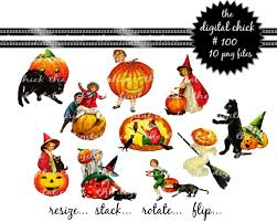 digital clipart vintage halloween clipart instant digital