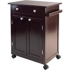 espresso kitchen island amazon com small espresso kitchen cart rolling cabinet