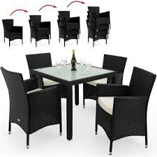 dining table set 4 seater rattan garden furniture dining table set patio rectangular frosted