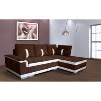 canapé angle droit en tissu savanah noir et pvc viper dya bestmobilier san diego noir blanc canapé d angle droit achat