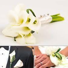 calla corsage graceful mini calla lilies wedding collection add on bouquet
