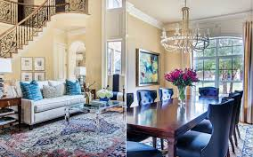 southern living at home decor blue based redesign blends traditional and fresh décor southern