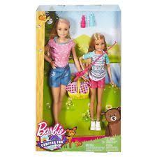 barbie camping fun skipper chelsea dolls campfire playset ebay