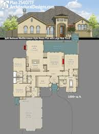 plan 25407tf split bedroom mediterranean style house plan with