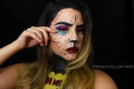 Halloween Makeup Comic Oh My U0027 Pop Art Halloween Makeup Series Beauty By Jannelle