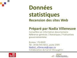 bureau des statistiques données statistiques recension des web préparé par