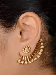 ear cuffs online buy antique 2 in one stud ear cuff online in india at cooliyo