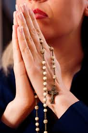 praying with rosary to god stock image image of prayer