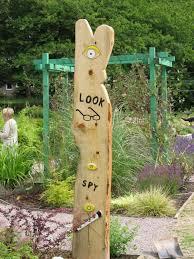 Sensory Garden Ideas Totem Poles In Sensory Garden Recycled Ideas Pinterest
