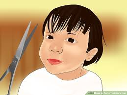cutting boy hair with scissors 4 ways to cut a toddler s hair wikihow
