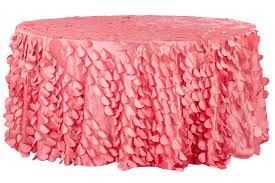 table cloth petal circle taffeta 120 tablecloth coral cv linens