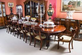 vintage victorian mahogany dining table with 14 chairs at 1stdibs