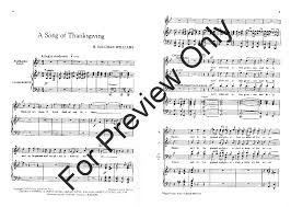 a song of thanksgiving satb choral score nb j w pepper sheet