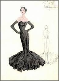 vintage fashion design sketches bergdorf goodman house of retro