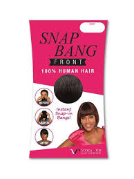 snap hair snap front by vivica fox clip in bangs wigs the wig
