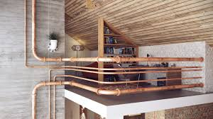reading space ideas interior cool industrial pipe railings as interior fence of loft