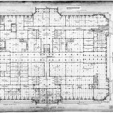 calisphere ground floor plan san francisco city hall drawing no 7
