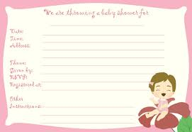 free printable and online bridal baby shower invitations for girls