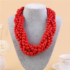 color bead necklace images 2018 2017 new fashoin bohemia beads necklace jewelry color resin jpg