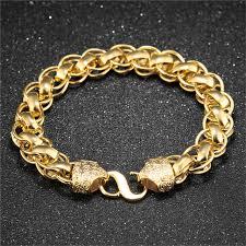 bracelet luxury charms images Gold bangle bracelet men luxury gold big chain bracelet with charm jpg