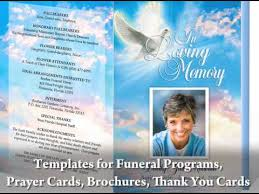 great video on how to create your own funeral programs by using