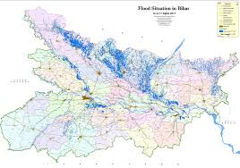 flood map india bihar floods toll rises to 253 almost 700 000