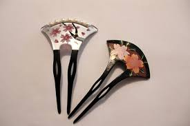 japanese hair ornaments shell we dress up with kanzashi japanese cool hair ornament
