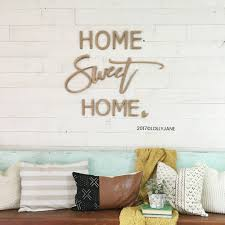 home sweet home wood cutout wall decor word art wood cutout