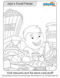 jojo u0027s food fiesta colouring colouring pages kids mocomi
